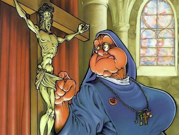 Jésus parmi nous pauvres pets chieurs